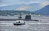 Vanguard Class RN Submarine passing Cloch Lighthouse - 11 September 2017