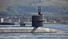 Ohio Class Submarine 'USS Wyoming' (SSBN-742) off Helensburgh - 21 September 2015