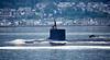 US Navy Virginia Class Submarine off Cloch Point, Gourock - 3 June 2018