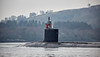 US Virginia Class Submarine off Rhu - 23 January 2017