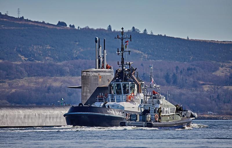 USS Maryland Off Roseneath - 20 March 2018