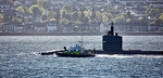 Police Boat 'Skye' with USS Helena (SSN-725) off Cloch Point - 5 May 2017