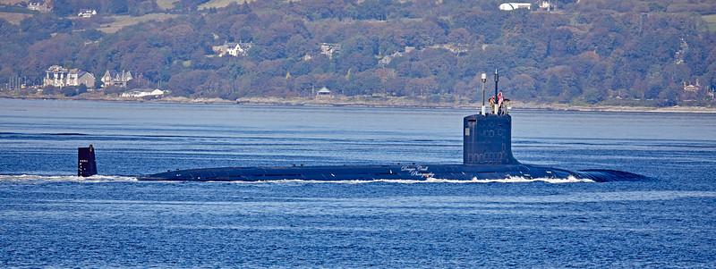 US Navy Virginia Class off Cloch Lighthouse - 20 September 2019