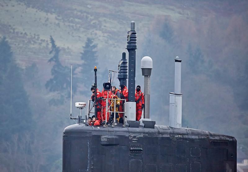 US Virginia Class Submarine off Rhu - 23 January 2017