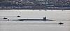 Ohio Class Submarine 'USS Wyoming' (SSBN-742) off Gourock - 21 September 2015