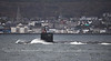 US Navy Virginia Class off Gourock - 24 October 2021