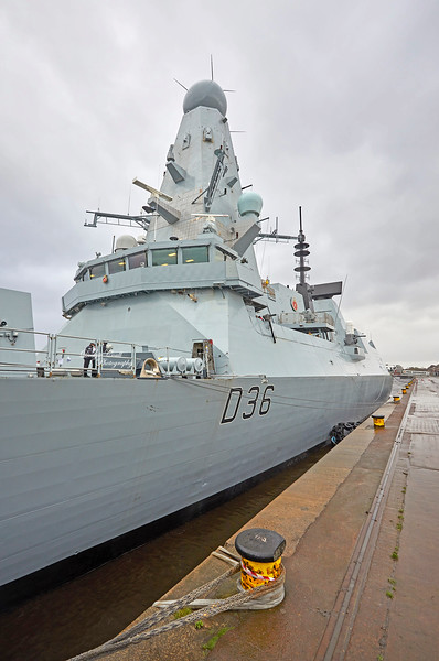 HMS Defender (D36) at KGV, Glasgow - 24 March 2019