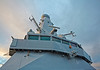 Superstructure on 'HMS Defender' at  KGV Docks - 30 November 2013