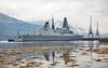 HMS Diamond (D34) at Glen Mallan Jetty - 20 July 2016