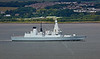 'HMS Duncan' passing  Langbank - 30 July 2014