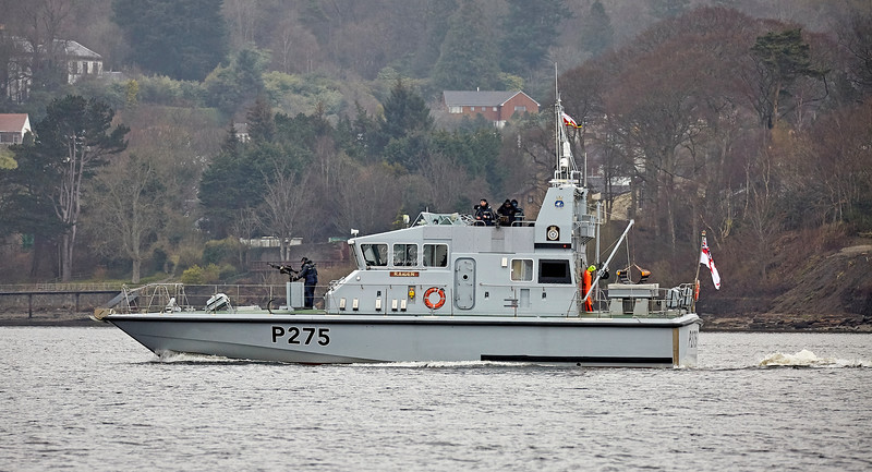HMS Raider (P275) off Rhu Spit - 13 April 2018