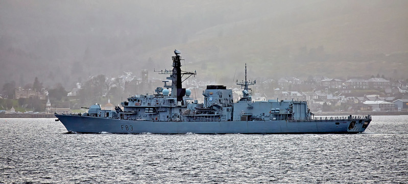 HMS St Albans (F83) off Cloch Lighthouse - 19 March 2017