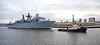 'HMS Bulwark' passing Braehead - 29 April 2016