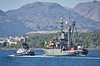 SD Reliable Escorts the USNS Grasp (T-ARS 551) to Faslane - 8 May 2017