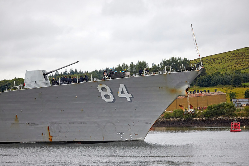 USS Bulkeley (DDG-84) at Rhu Spit - 13 August 2018