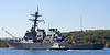 USS Arleigh Burke - Slips out of the Gareloch - SD Clyde Spirit Attending