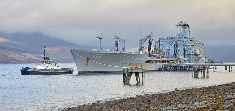 USNS Big Horn (T-AO-198) at Loch Striven Jetty - 10 October 2018