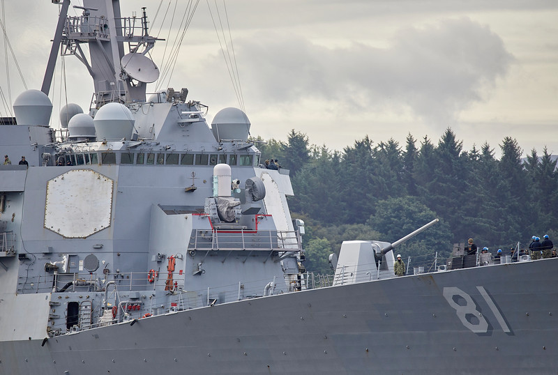 USS Winston S Churchill (DDG-81) at Rhu Spit - 20 August 2018