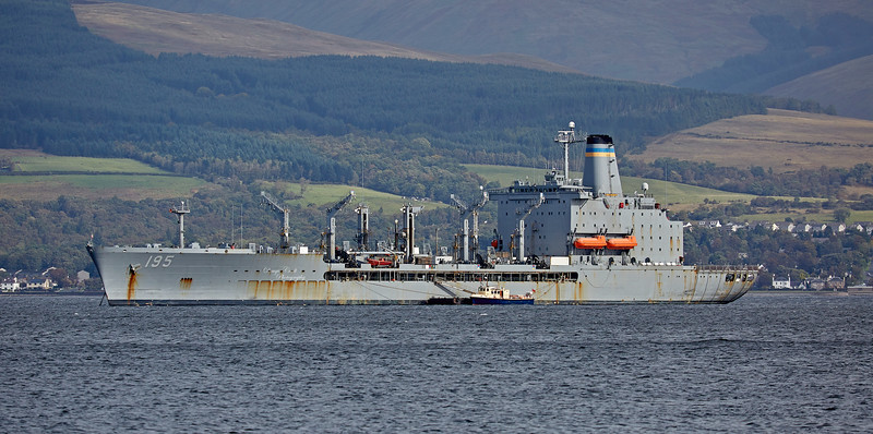 USNS Leroy Grumman (T-AO-195) at Greenock - 20 September 2018