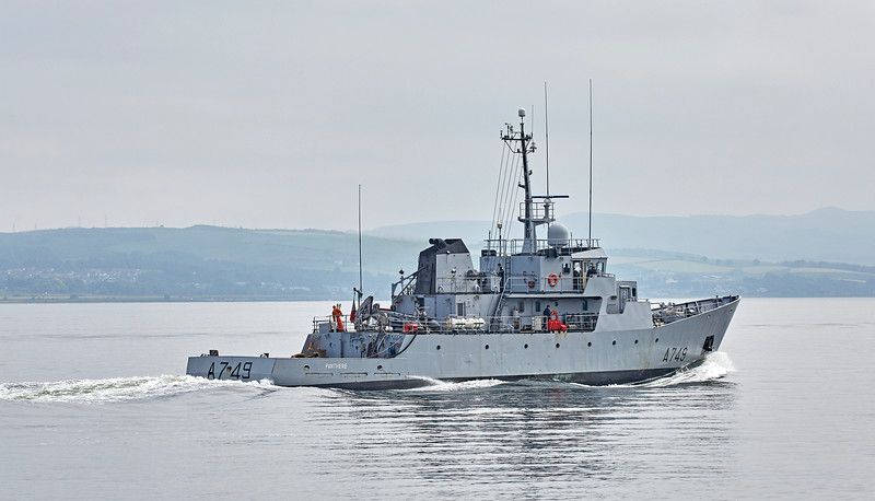 FS Panthère (A749) off Greenock - 8 June 2018