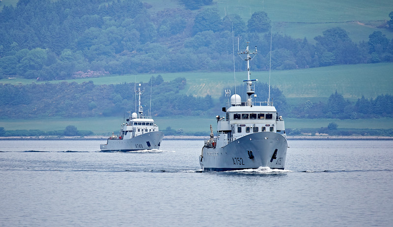 FS Guépard (A752) and  FS Panthère (A749) off Greenock - 8 June 2018