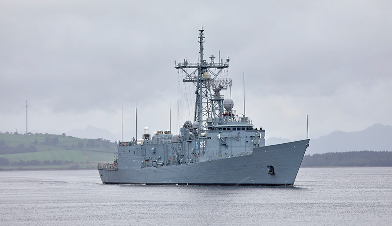 ORP General Kazimierz Pulaski (272) passing Greenock - 23 August 2018