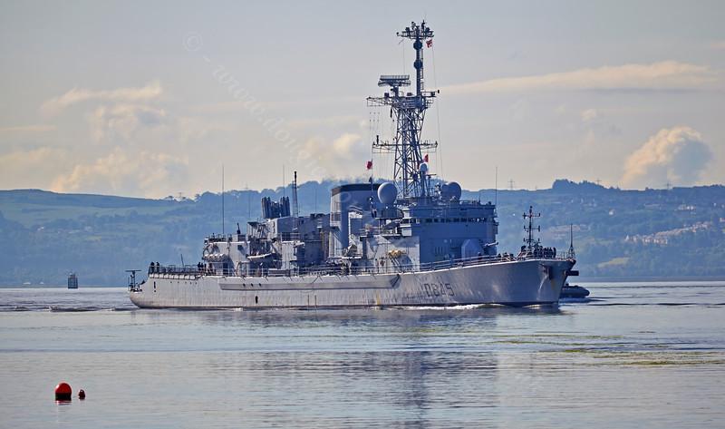 French Frigate 'La Motte-Picquet' (D645) - approaching Faslane Naval Base - 16 June 2014
