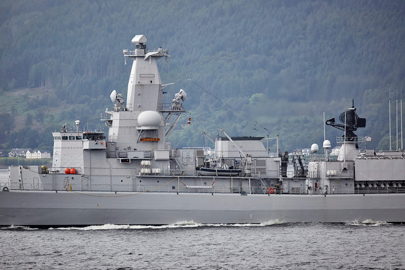 BNS Leopold 1 (F930) passing Cloch Lighthouse - 16 July 2016