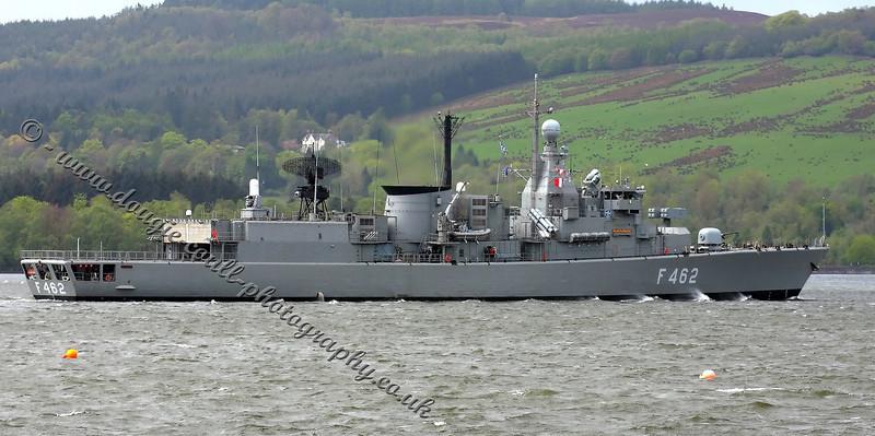 Kountouriotis - Greek Navy - F462 - Enters Faslane