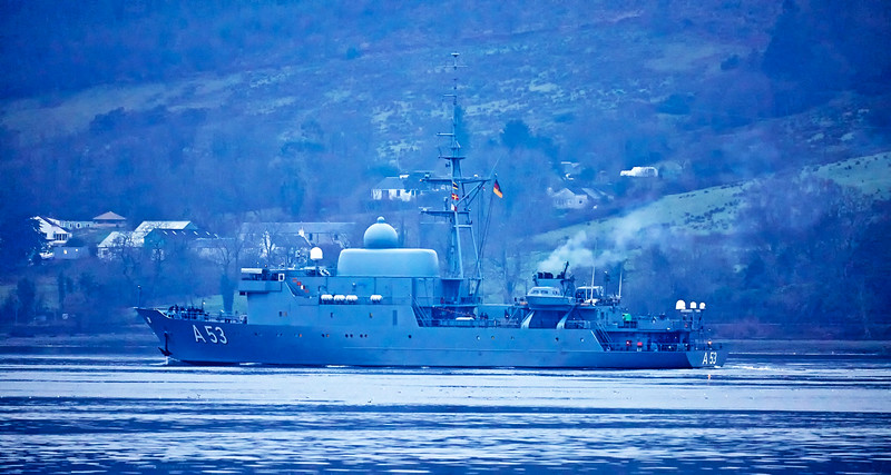 FGS Oker (A53) at Rhu - 23 January 2017