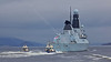 'HMS Dauntless' (D33) Passing Port Glasgow - 13 March 2014