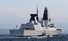 HMS Defender returning from first sea trials - Heading to Glasgow - 14 November 2011