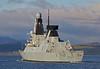 'HMS Defender' Passing  Port Glasgow - 1 December 2013