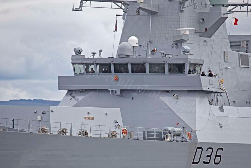 HMS Defender - Portsmouth Bound - Off Port Glasgow - 21 July 2012