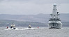 HMS Defender with Bruiser and Battler - off East India Harbour - 10 March 2012