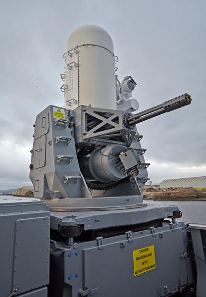 Phalanx Close-in Weapon System on HMS Defender at  KGV Docks - 30 November 2013