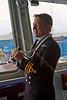 Captain Philip Nash of 'HMS Defender' at  KGV Docks - 29 November 2013
