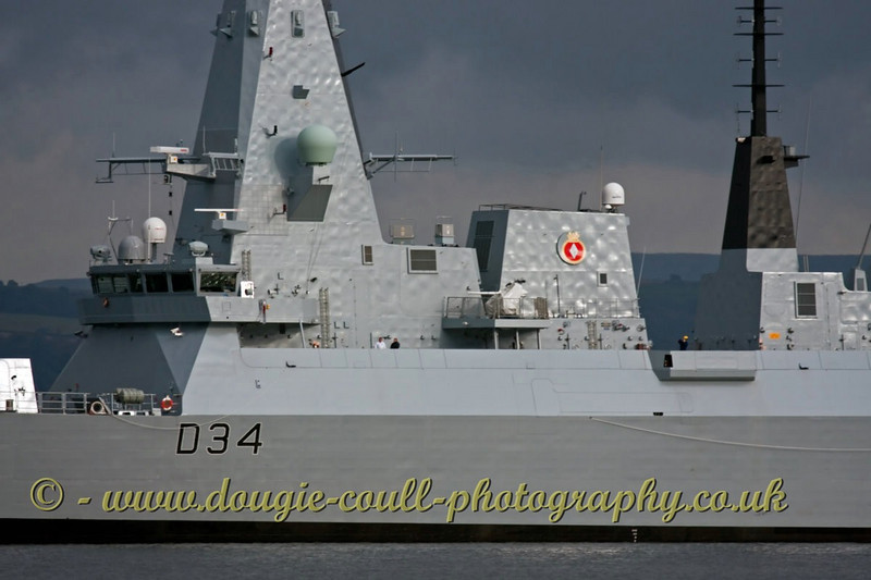 Diamond (D34) - Heading for Sea Trials