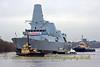 HMS Diamond & Supporting Tugs