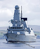 (HMS) Diamond - Heading for Sea Trials