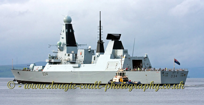 Diamond and CMS Buster off Port Glasgow