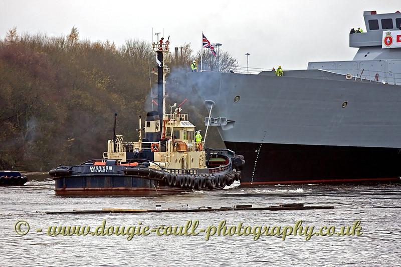 HMS Diamond with Warrior III Assisting - 27 November 2007