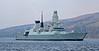 HMS Dragon (D35) off Rhu Spit - 31 March 2014