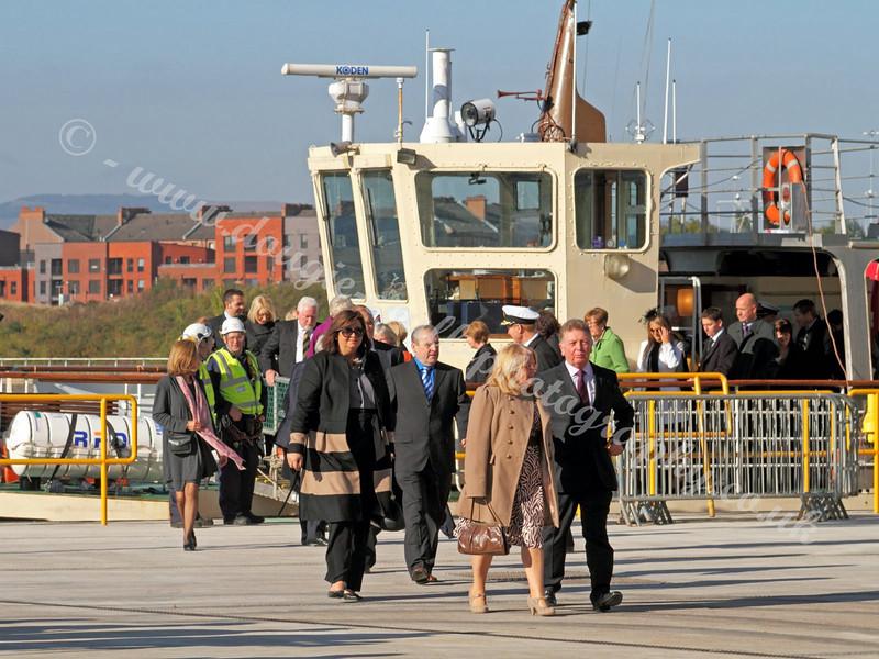 Dignitaries Disembark - 11 October 2010