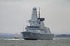 HMS Duncan (37) - Passing Port Glasgow - 19 March 2013