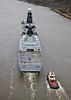 HMS Duncan (37) - Erskine Bridge - 19 March 2013
