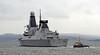 HMS Duncan (D37) - Passing Port Glasgow - 19 March 2013