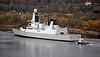HMS Duncan on Second Sea Trials - Erskine Bridge - 16 November 2012