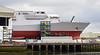 HMS Glasgow at Govan BAE Yard - 20 April 2021