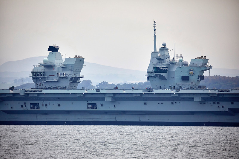 HMS Prince of Wales (R09) at Rosyth - 22 September 2019